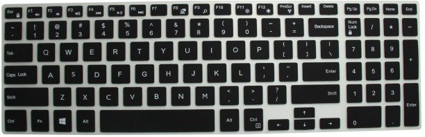 Saco Chiclet Keyboard Skin for Lenovo 59-442243 15.6-inch Laptop Black with Clear