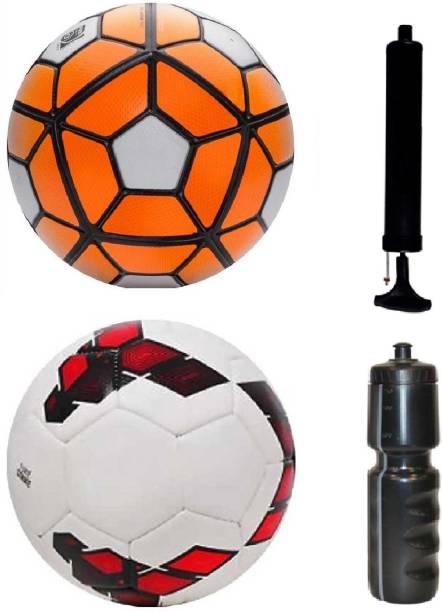 Retail World Ordem White Orange + Premier League Red Purple Football (Size- 0ec5736a05fff