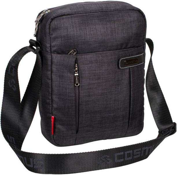 fa25ae3ea Cosmus Paris Travel Sling Bag - Dark Grey Water Resistance Polyester Bag  with Multiple Pockets and