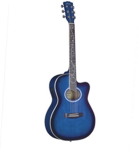 Hertz HZA-3901ET-BL Semi-acoustic Guitar Rosewood Rosewood