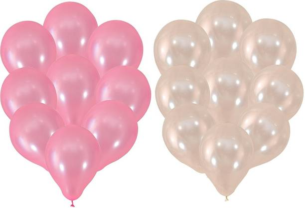 Instabuyz Solid Balloons For Party Festival Diwali Christmas Decorations New Years Celebrations Birthday 15pcs Pink