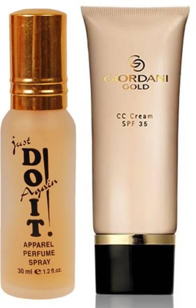 Oriflame Sweden Giordani Gold CC Cream SPF 35 40ml (Light - 30988) Wth Just Doit Perfume 30ml