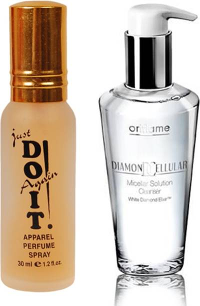 Oriflame Sweden Diamond Cellular Micellar Solution Cleanser 200ml (21339) with Just Doit Perfume 30ml
