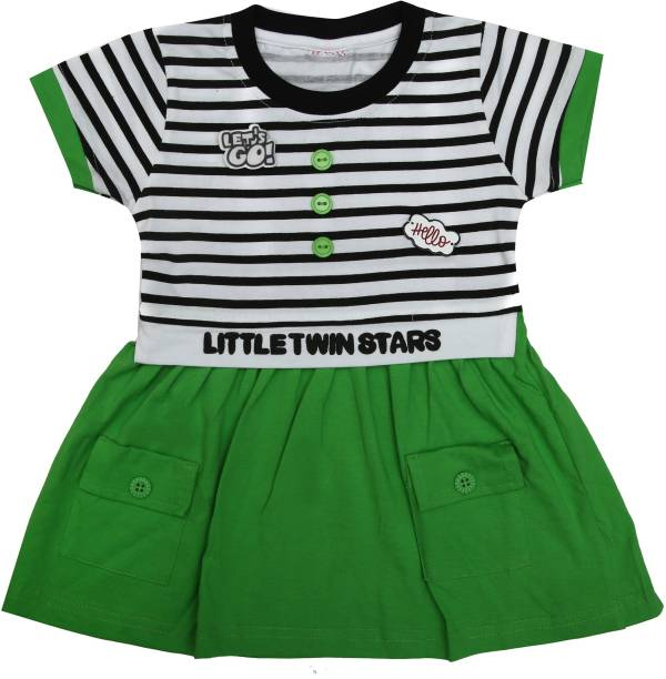 ZADMUS Girls Midi/Knee Length Casual Dress
