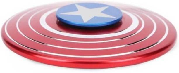 S.Blaze Amazing Metal Rounded Captain America Avenger Shield Fidget Spinner Toy for Kids &
