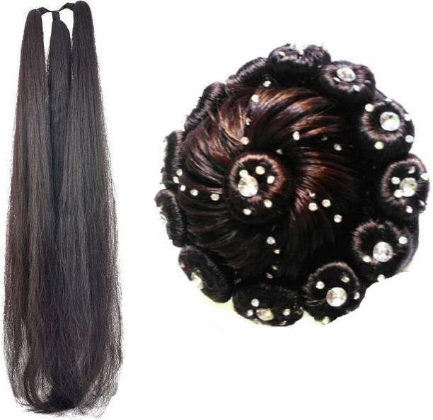 KashQueen 24Inchs Hair Parandi with Stone Juda For Festives Braid Extension