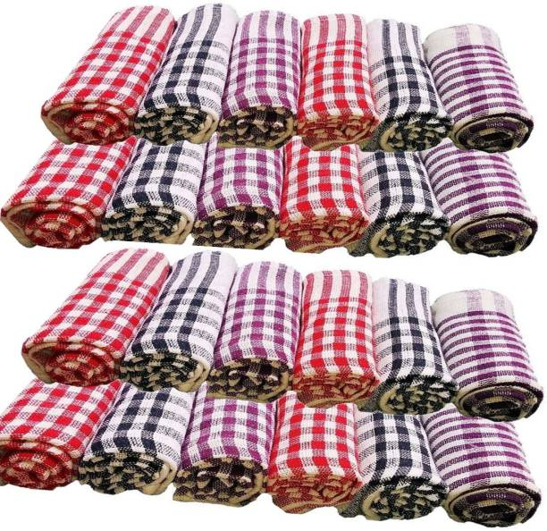G S COLLECTIONS Kitchen Napkins /Sheets/Cleaning Cloth Soft and Multicolour Multipurpose Kitchen Napkin Table Wipe Set of 24 Sheets Multicolor Napkins