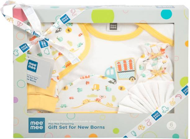 MeeMee Pampering Gift Set for New Borns (6 pcs, Yellow)