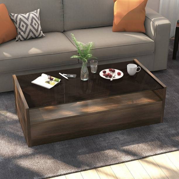 Urban Ladder Alita Storage Coffee Table  Finish : walnut; Configuration : full drawer  Engineered Wood Coffee Table