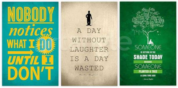 1140087995 Set Of 3 Motivational Posters Paper Print
