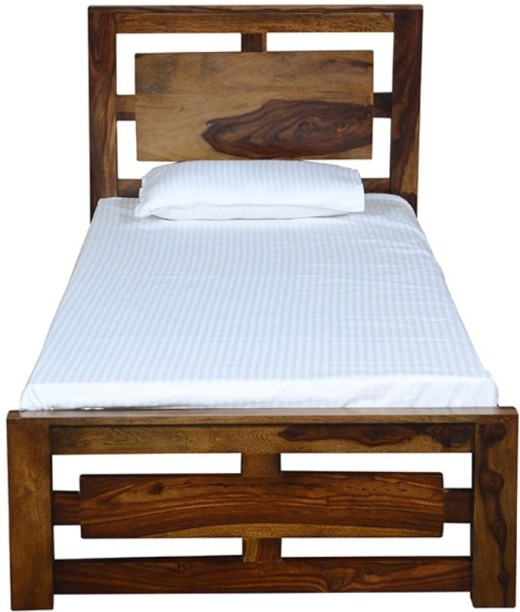 Saffron Art Alaska Sheesham Solid Wood Single Bed