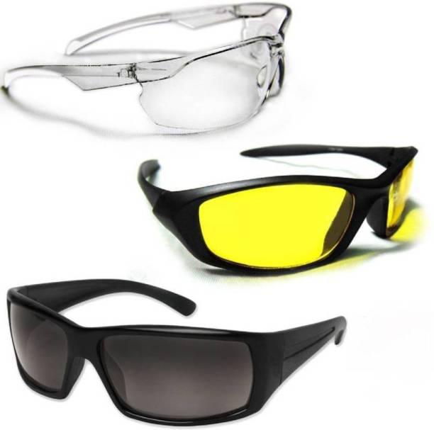 e6fed811cfe ATTRACTIVE New Day   Night HD Vision Goggles Anti-Glare Polarized Sunglasses  Men Women
