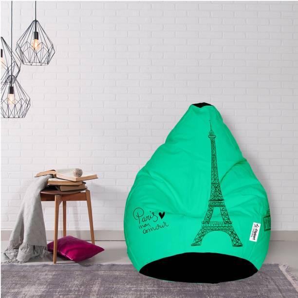 Flipkart SmartBuy XXXL Tear Drop Bean Bag Cover  (Without Beans)