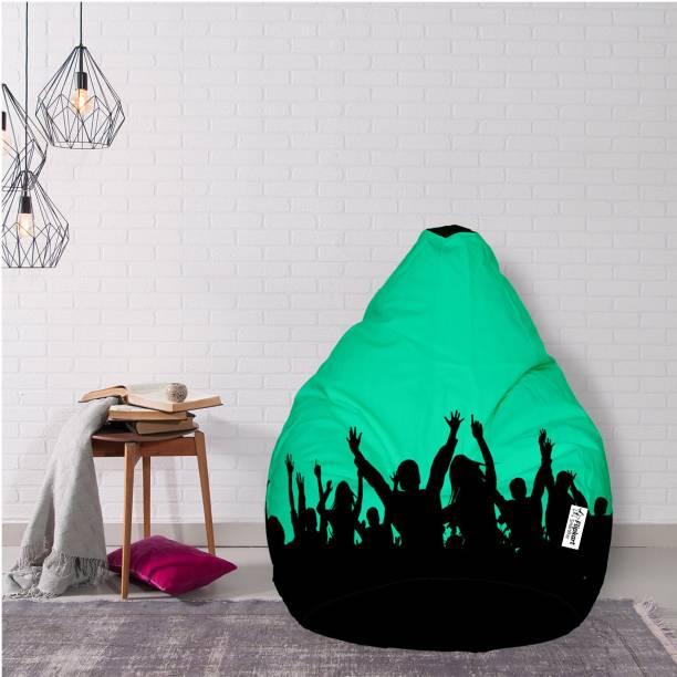 Flipkart SmartBuy XXL Tear Drop Bean Bag Cover  (Without Beans)