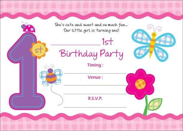 Birthday invitation card buy birthday invitation card online at power plus birthday metallic card invitations with envelopes kids birthday party invitations for boys or stopboris Image collections