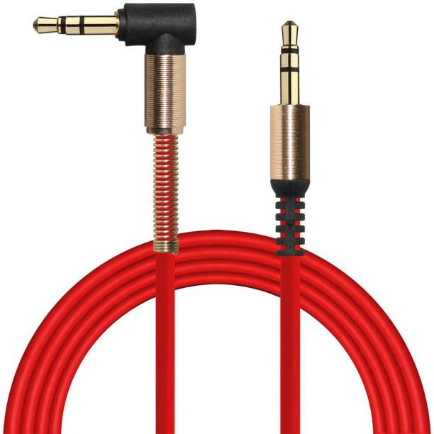 Gadget-Wagon 3.5 mm stereo coiled right angled 90 degrees auxillary AUX cable for car