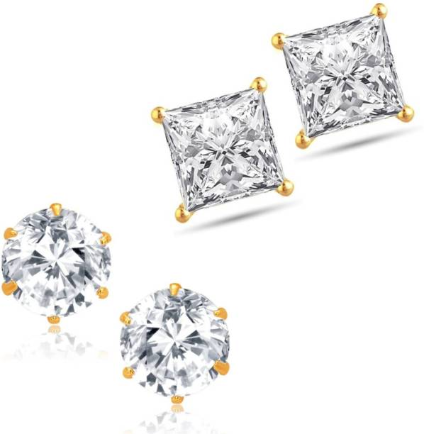 67dbaee8b Charming Jewels Diva Style Cubic Zirconia, Zircon Brass Stud Earring,  Earring Set