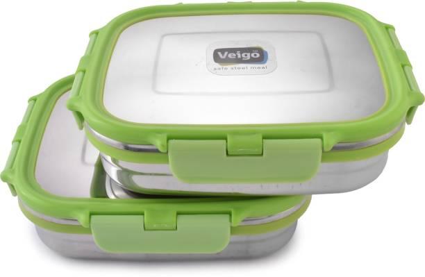 Veigo VEIGO_C_2CONT_B B_Green 2 Containers Lunch Box