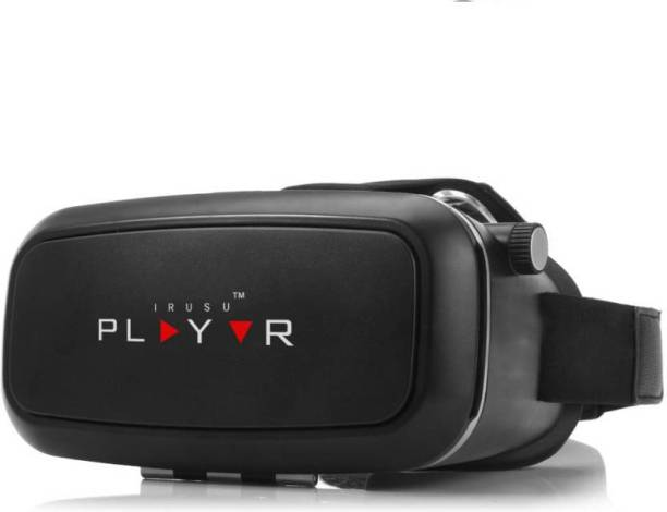 IRUSU Play VR headset With Upgraded 42mm Fully Adjustable Virtual Reality Lenses And Magnetic Clicker. VR Box for all mobiles