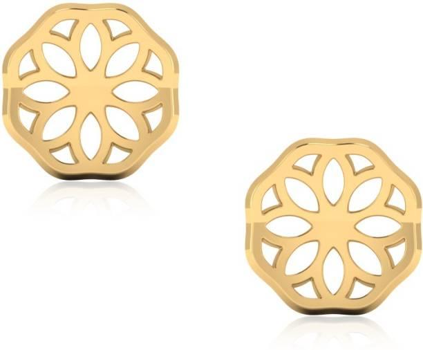 17aac4dd2 IskiUski Love Valentine Yellow Gold 18kt Swarovski Crystal Stud Earring