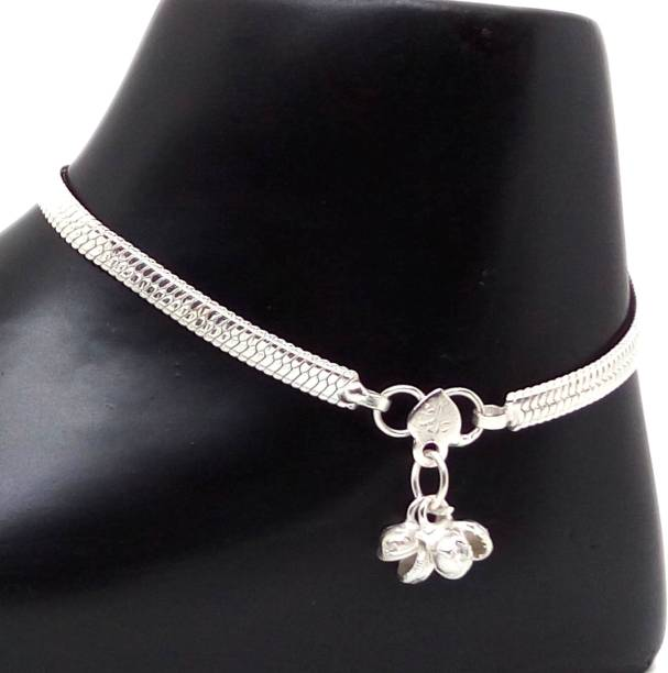 b13c414e53d Jewelszone Special Designer Sterling Mystic Silver Exclusive Anklet Set 46 Sterling  Silver