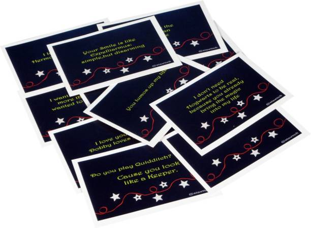 STAWNCH 12 HARRY POTTER REASONS WHY I LOVE YOU SET OF CARDS SIZE 6