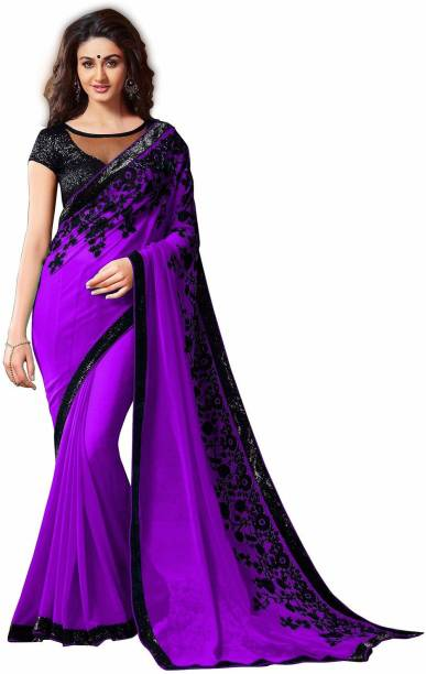 2b7cc098d7 Heavy Work Sarees - Buy Heavy Net Sarees With Stone Work Online at ...