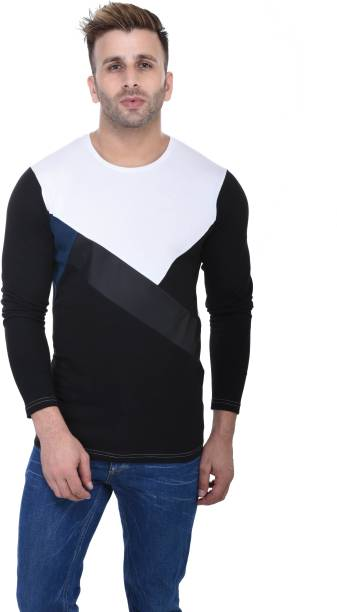 STITCH STUDIOS Self Design Men Round Neck White T-Shirt