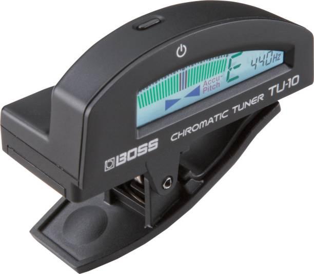 BOSS TU-10-BK Clip-On Chromatic Tune Manual Digital Tuner