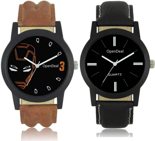 a0d14ca9a OpenDeal OD0405 New Designer Black Dial Leather Belt Mens Watch Boys Watch  Watch - For Boys