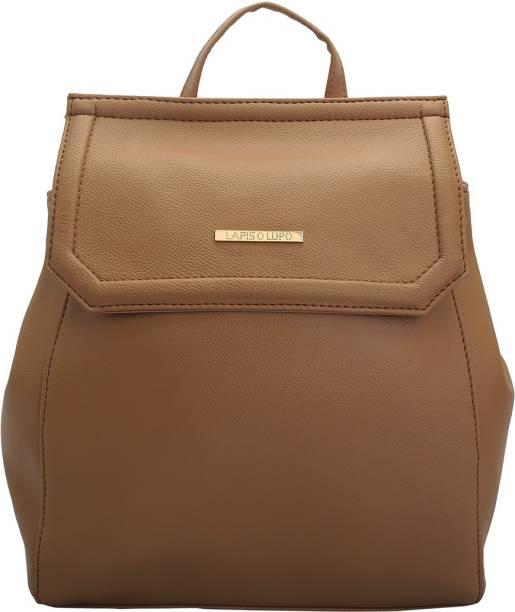 LAPIS-O- LUPO Women Backpack (Beige) 12 L Backpack 3c7b03ef6a6ac