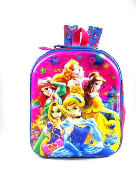 ehuntz Disney Princess 5D embossed (pre nursery & nursey) Waterproof School Bag