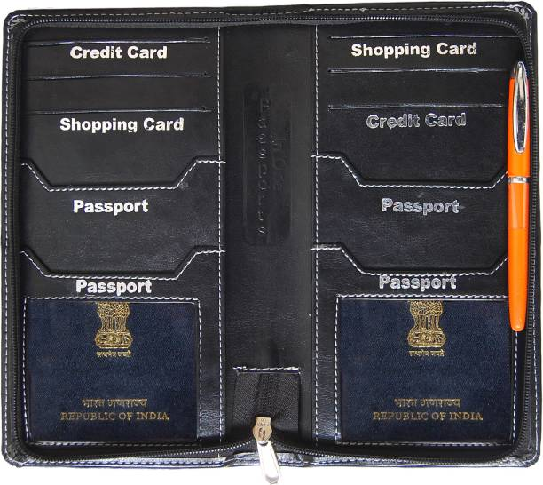 b92ada842be0d9 KITTU 4 passport and Traveling wallets for Unisex Brown colour PU leather  imported