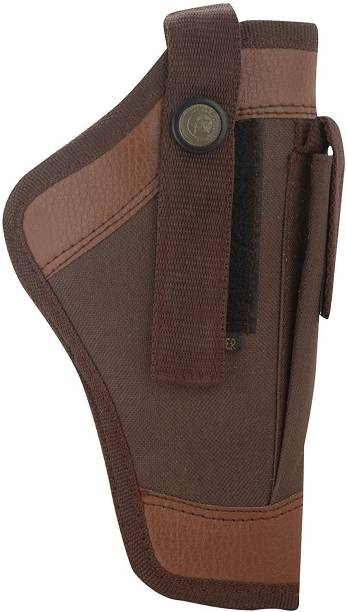 SHAH Unisex Leather 9mm Pistol Cover Racquet Carry Case/Cover Free Size