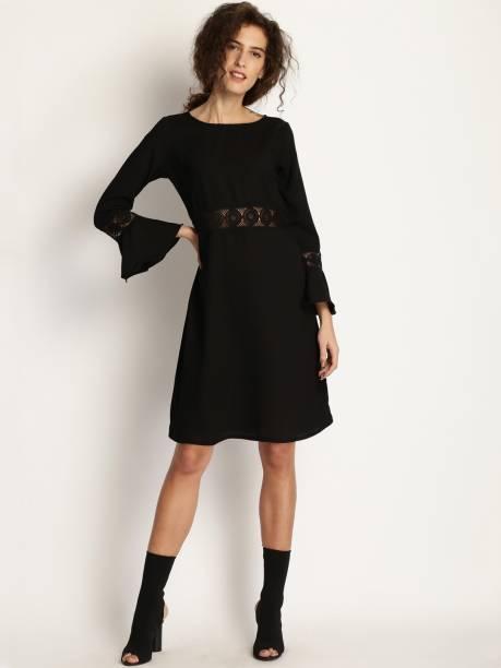 Knee Length Dresses - Buy Knee Length Dresses Online at Best Prices ... b7b54a953
