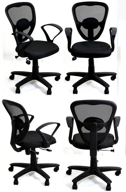 TimberTaste DOLLY Arm Chair Fabric Office Arm Chair