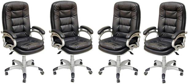 TimberTaste NANCY Leatherette Office Arm Chair