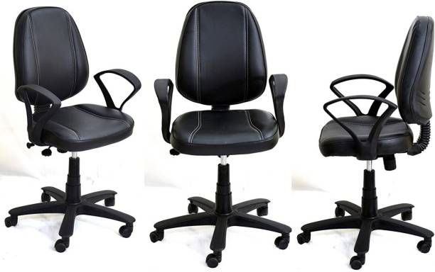 TimberTaste LORA Leatherette Office Arm Chair