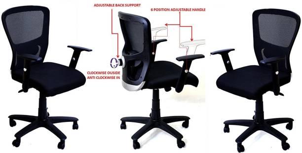 TimberTaste JOHNY Fabric Office Arm Chair