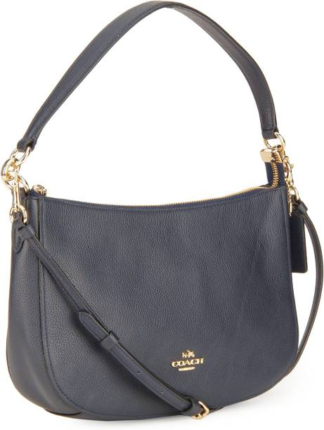 Coach Women Casual Blue Genuine Leather Sling Bag