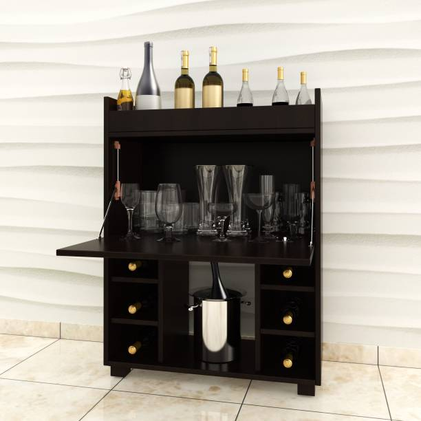 Crystal Furnitech Moet Engineered Wood Bar Cabinet