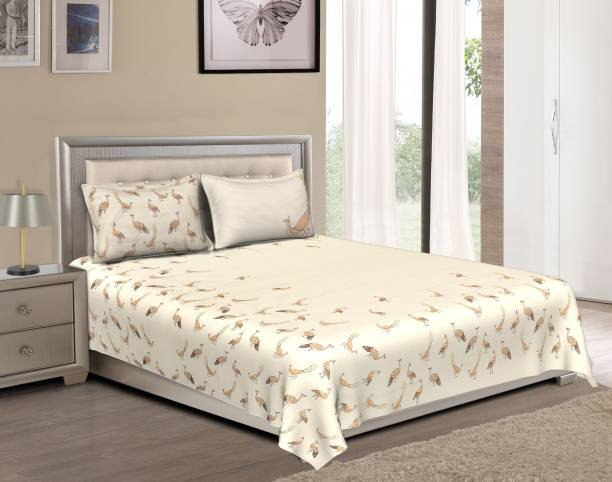 Bombay Dyeing 120 TC Cotton Double King 3D Printed Bedsheet