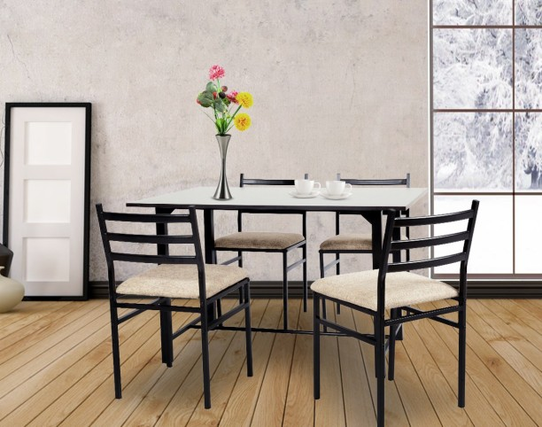 FurnitureKraft Metal 4 Seater Dining Set & Dining Table and Chairs: Buy Dining Table Sets Online at Best Prices ...