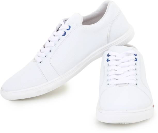 D-SNEAKERZ Casual , Partywear Sneakers Shoes For Mens And Boys White Color  Sneakers For