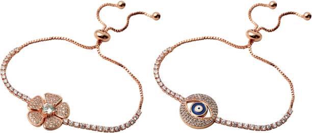 Herman Hansen Copper Gold Plated Bracelet Set