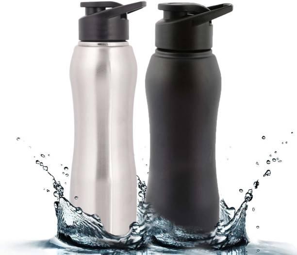 9f4c987d1d Zafos Stainless Steel Sipper Water Bottle - Silver & Black, 750ml ,2pc.(