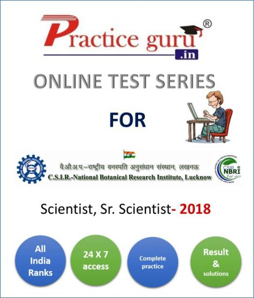 Practice guru Online practice test series for NBRI - Scientist and Sr. Scientist vacancy, containing mock tests | aptitude tests for complete practice before the exam
