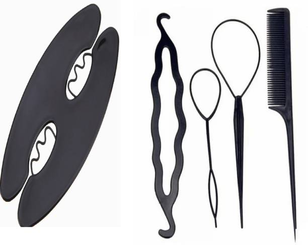 DALUCI Magic Twist Roller Hair Styling Tools + Hair Bun Maker Dount Twist Hair Accessory Set