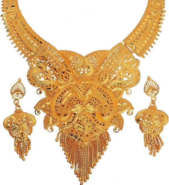 359a922d978 1 Gram Gold Necklace Sets - Buy 1 Gram Gold Necklace Sets online at ...