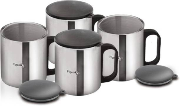 Pigeon Double Coffee Cup (Set of 2) Stainless Steel Coffee Mug